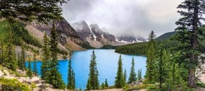 Moraine Lake from the rockpile