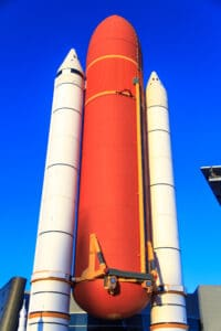 External Fuel Tank and Solid Rocket Booster mockup