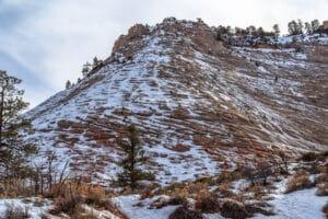 Snowcovered Checkerboard Mesa