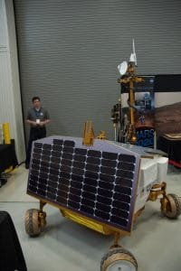 Solar panels that power rover