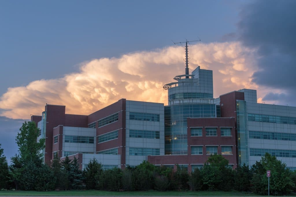 Stormcloud Over National Weather Center