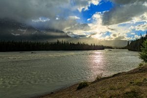 Sunset over the Athabasca River