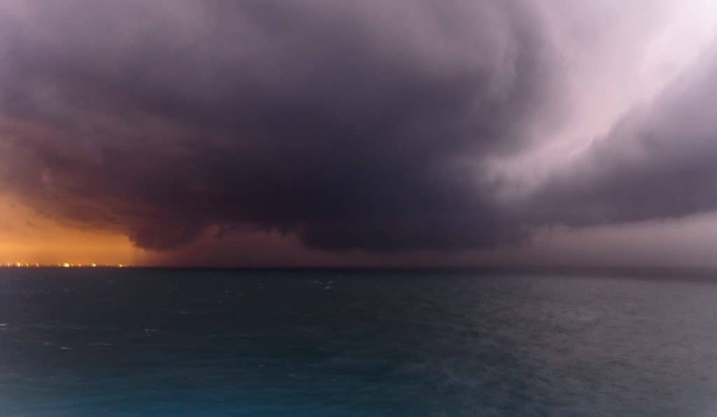 Supercell off coast of Florida