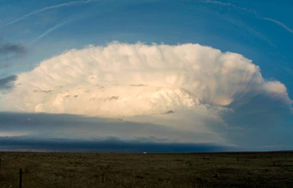 Thunderstorm near Sunset