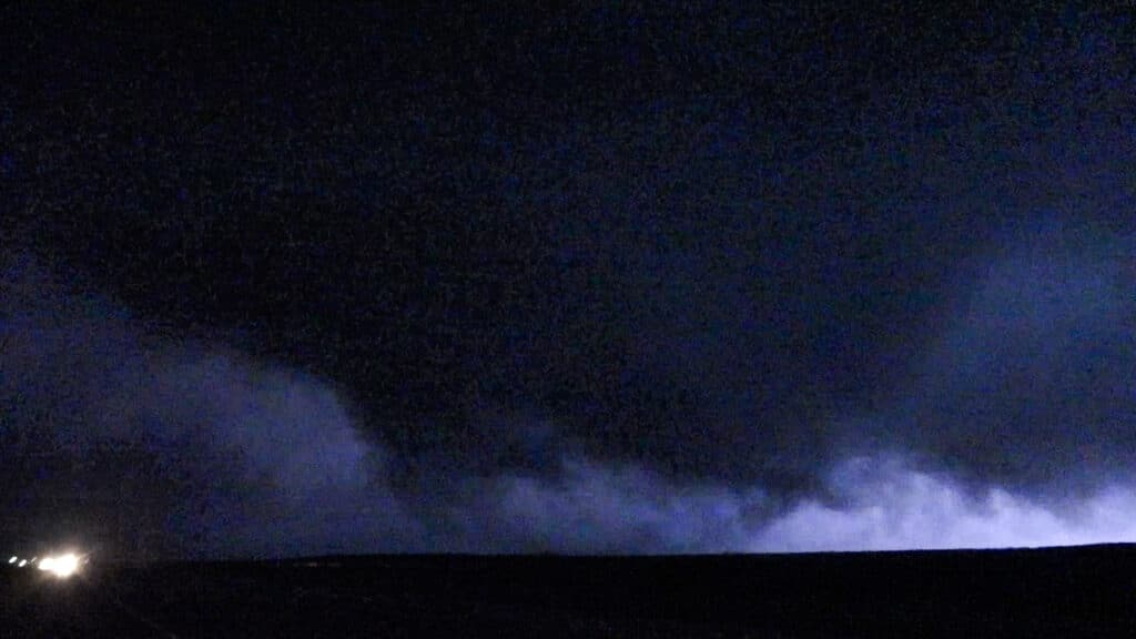 Tornado near Plains, KS