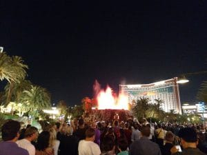 Volcano outside of the Mirage