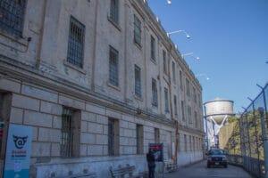 Walking up to Alcatraz