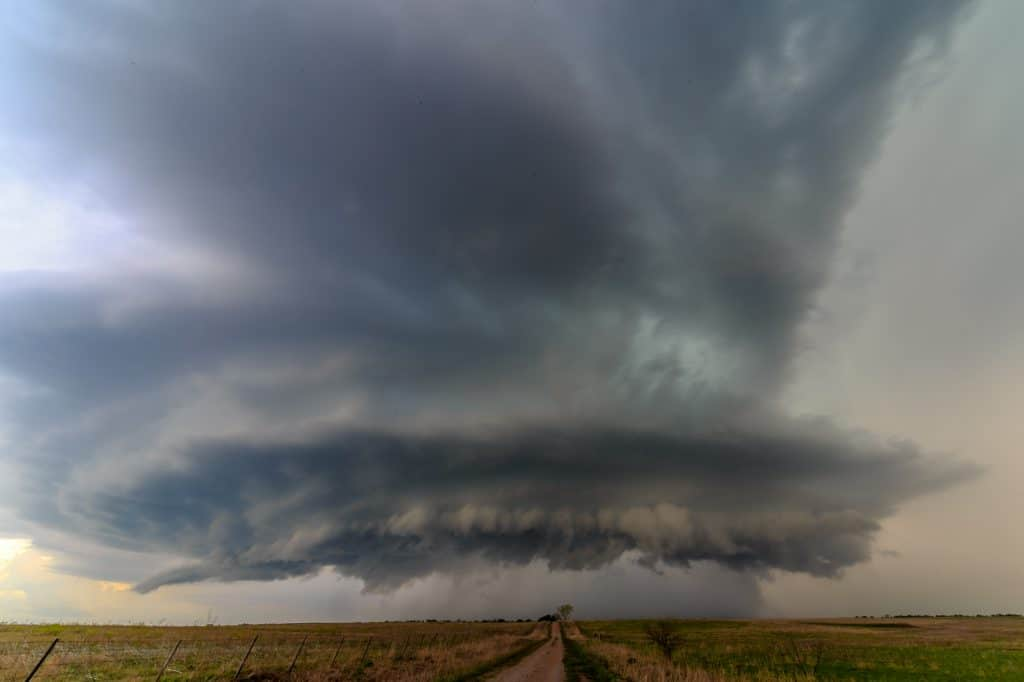 Supercell Structure near Walters, OK