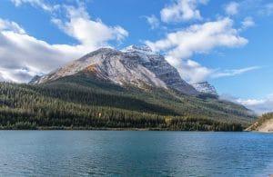 Wapta Lake and Vanguard Peak
