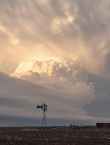 A supercell in the Texas Panhandle on April 11, 2015. This storm produced plenty of hail up to golfballs