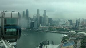 Atop Singapore Flyer