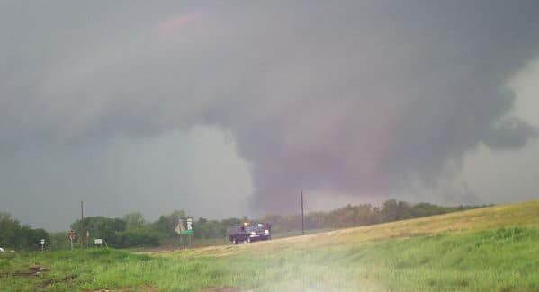 Me and my Truck in front of the tornado