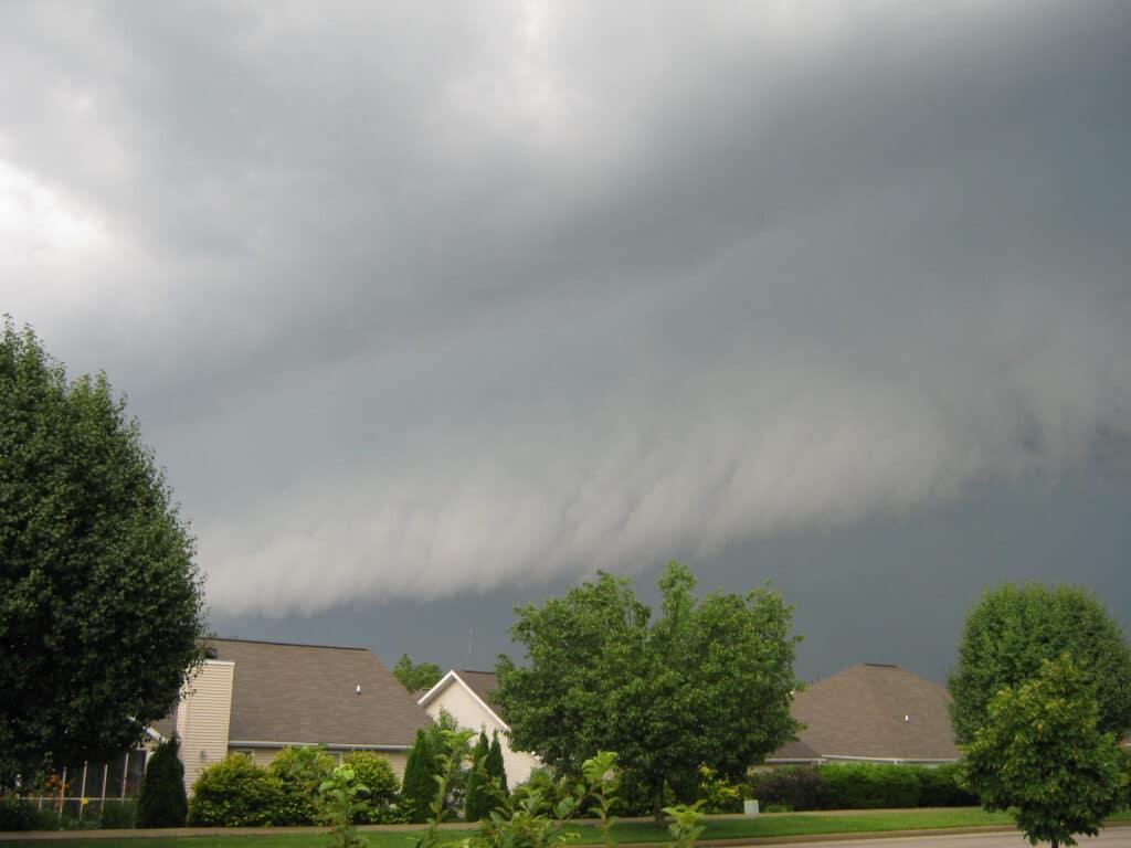 Bloomington Indiana Shelf Cloud