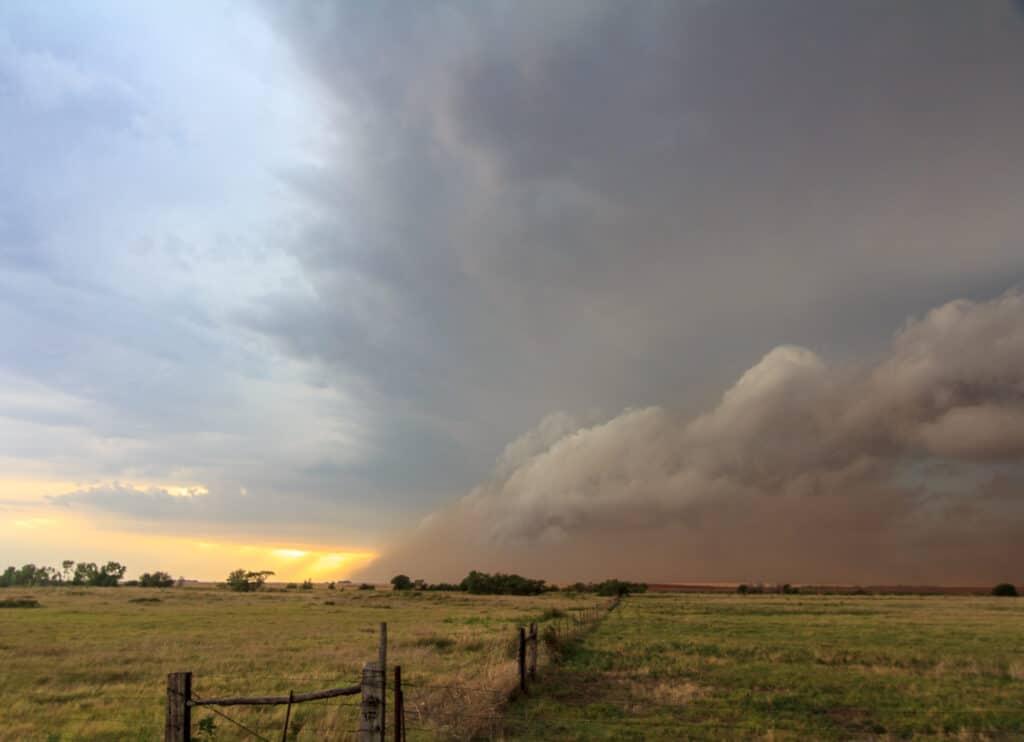 Shelf Cloud at Kansas and Oklahoma Border