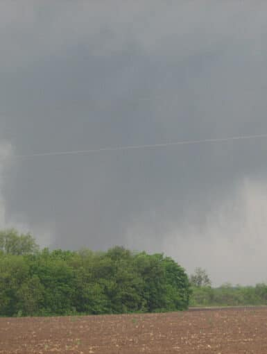 Tornado near Earle, Arkansas on May 2nd, 2008. The tornado was rated EF-3