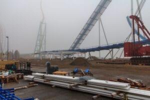 Gatekeeper Construction in 2012 at Cedar Point