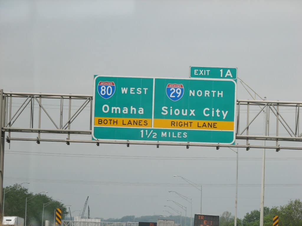 I80 West to Omaha