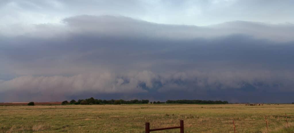 Shelf Cloud in Northern Oklahoma