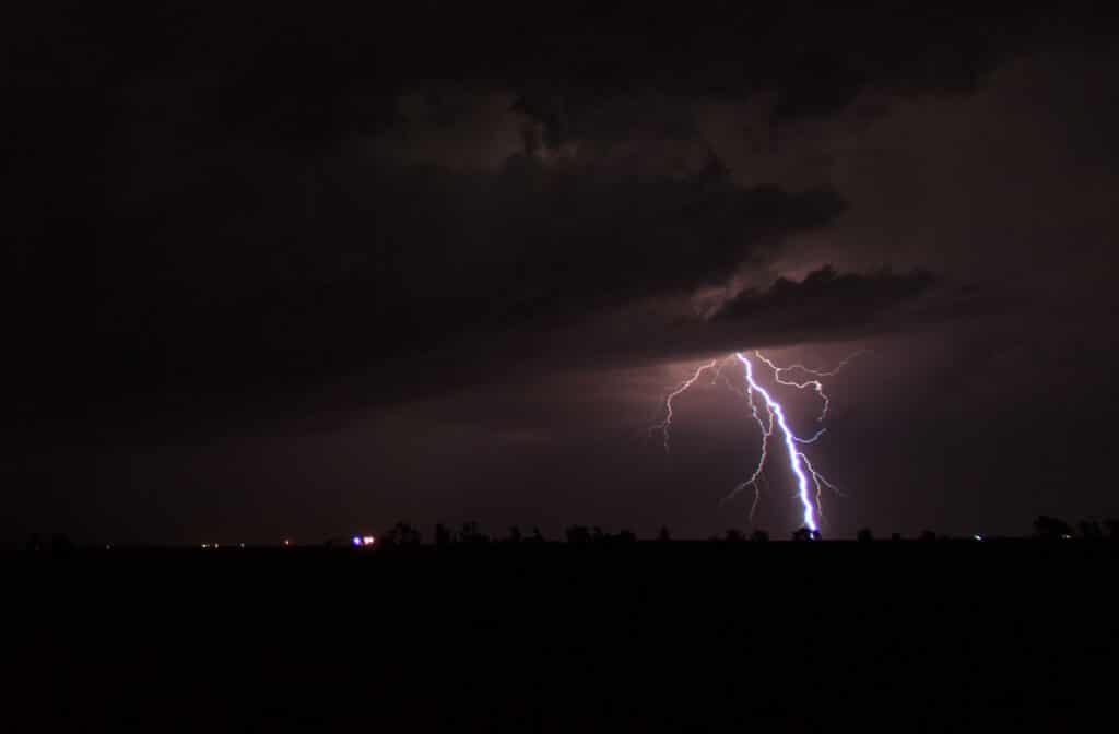 Night time lightning in Oklahoma