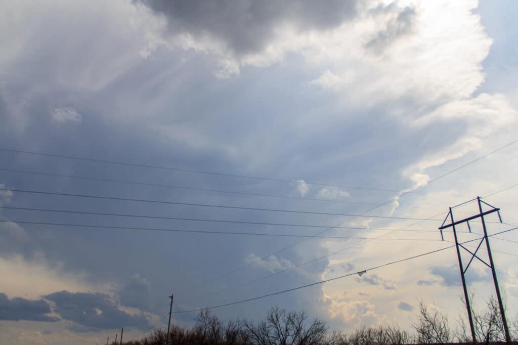 Storm building near Childress