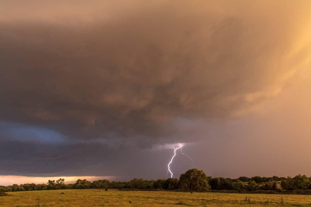 Lightning in Oklahoma