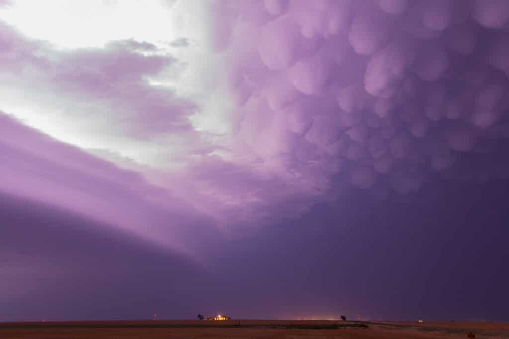 Mammatus over Western Oklahoma