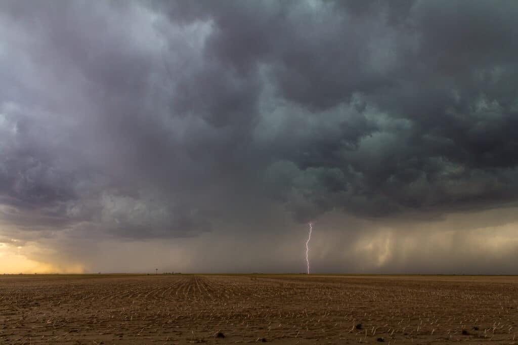 Lightning on a storm in Kansas