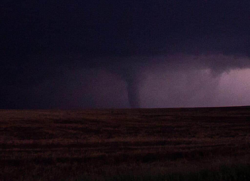 Tornado at night in Kansas
