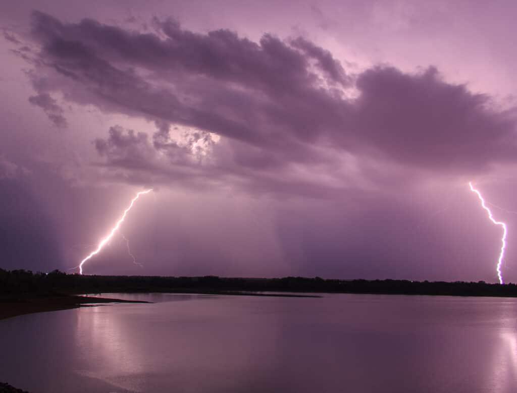 Lightning over Fort Cobb Lake