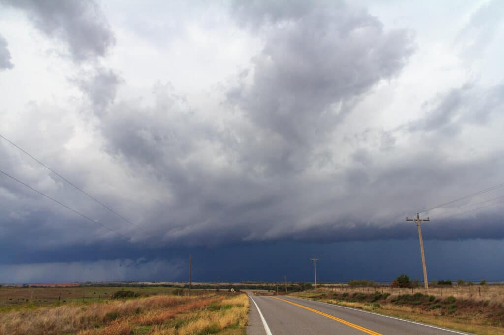 Storm near Carnegie, OK