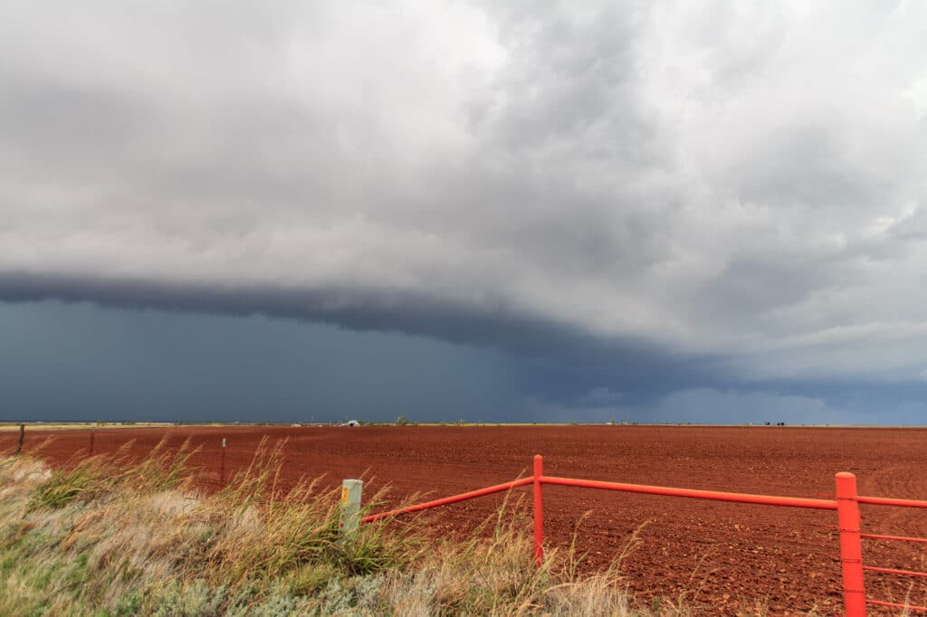 Outflow Dominant Storm in Western Oklahoma