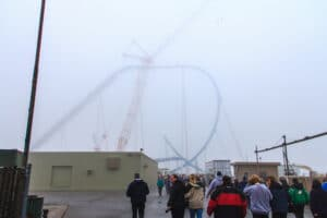 First hill of gatekeeper during construction