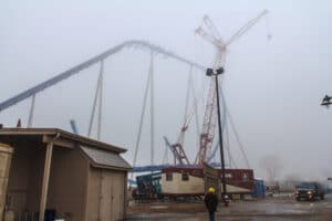 A crane on the Gatekeeper construction site in 2012