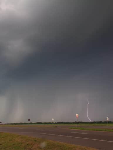 Lightning in Central Oklahoma