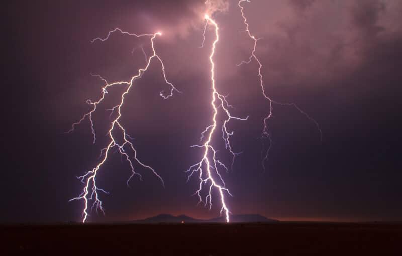 Lightning storm near Aspermont, TX on April 28, 2012