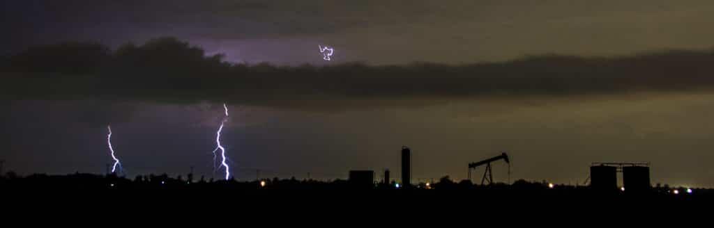 Lightning and Oil pumpjack