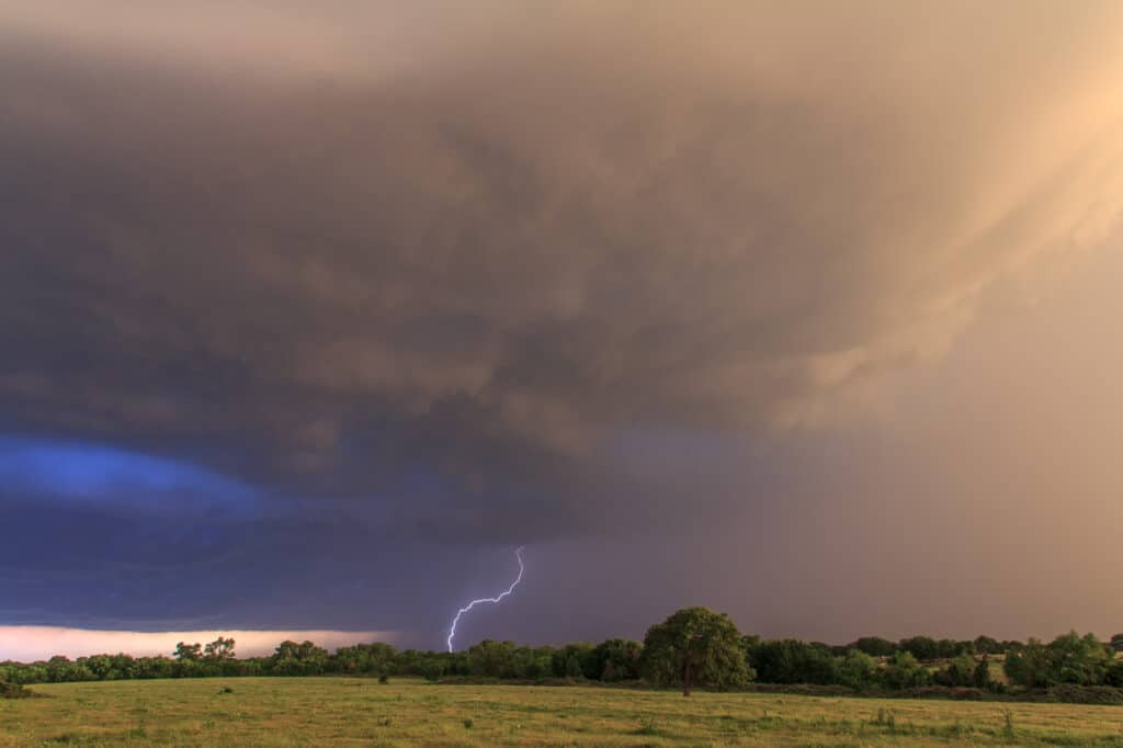 Lightning in Southern Oklahoma