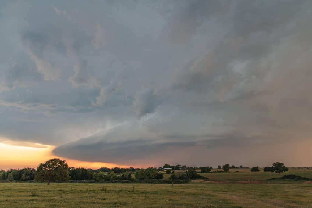 Thunderstorm in May in Oklahoma