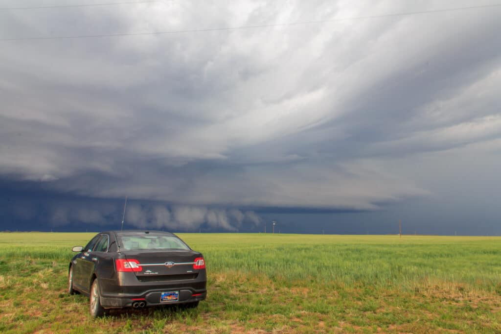 Car and Storm