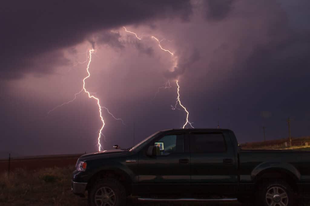 Lightning strikes my truck