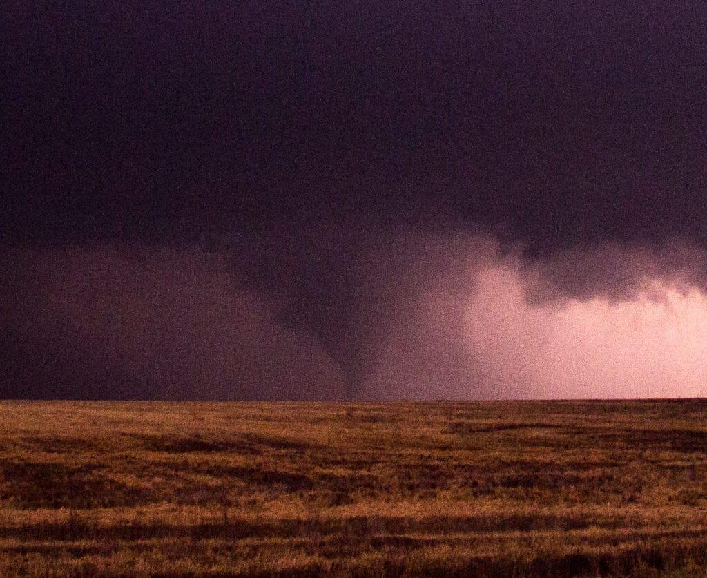 Night Time Kansas Tornado