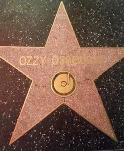 Ozzy Osbourne star on Walk of Fame