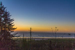 Sunset over the Pacific at Cape Disappointment