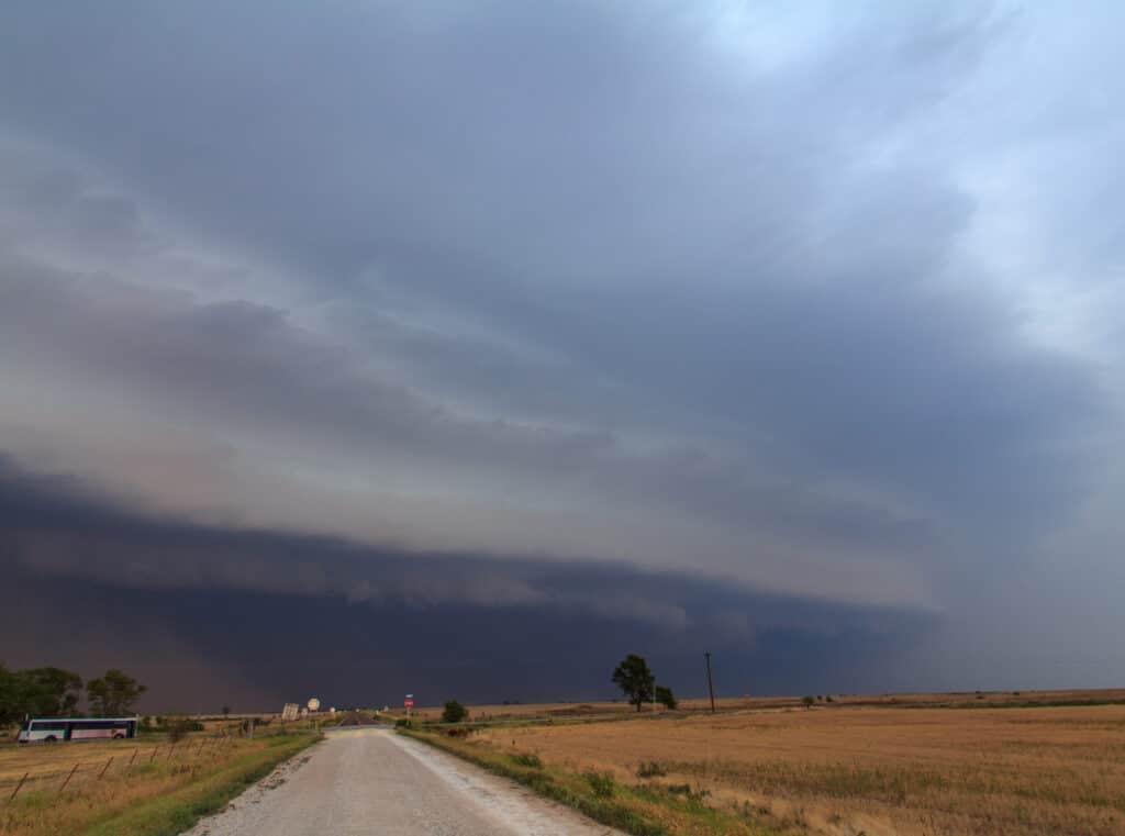 Shelf Cloud in Grant County Oklahoma