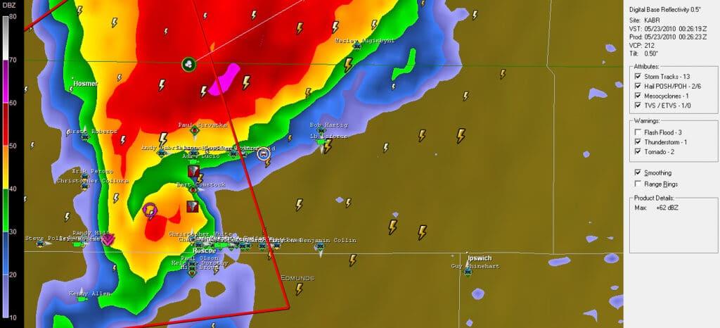 Radar from Aberdeen 726 pm