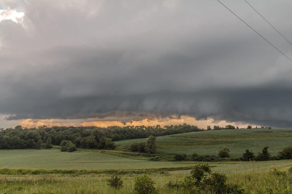 Storm near Portsmouth, iowa