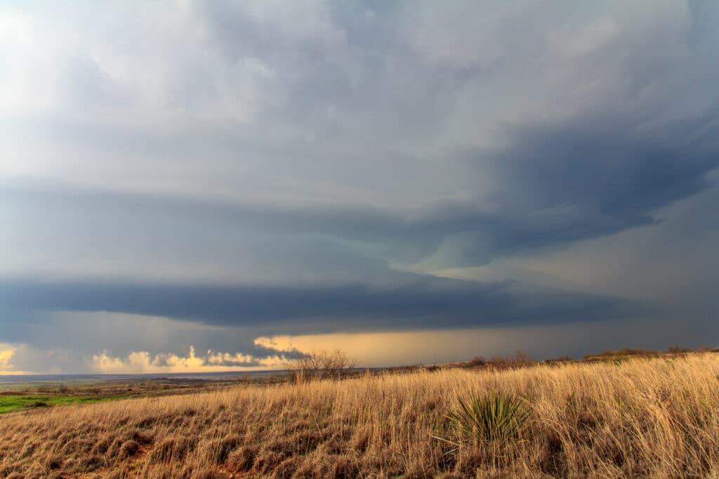 Striated Supercell near Mangum Oklahoma