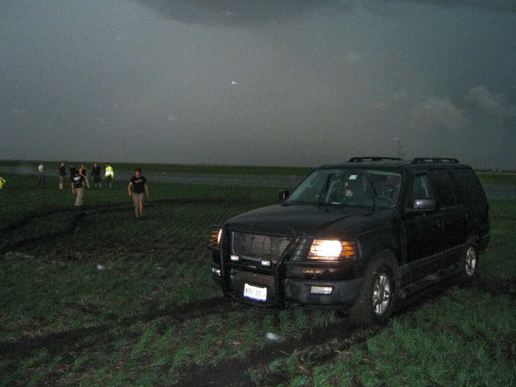 Stuck in a farmers field.
