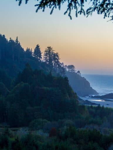 Sunset along the Washington Coast at Cape Disappointment