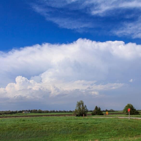 An anvil over Kansas Landscape on April 14, 2012